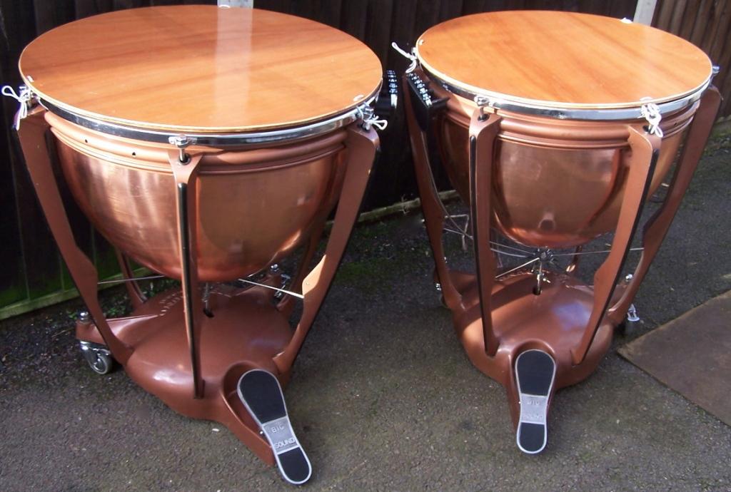 """28"""" & 25"""" Adams Copper Timpani"""